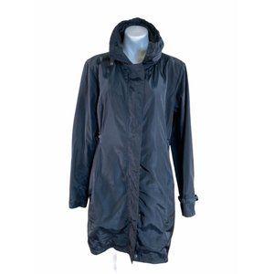 Garnet Hill Black Hooded Jacket - Black - Sz 12